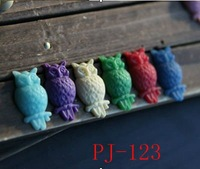 antique owl resin craft jewelry accessories resin DIY component parts small