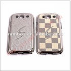 Luxyry crystal diamond chrome bling case phone protector back cover case for Samsung Galaxy s3 i9300