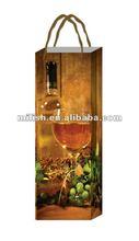 2012 Hot sale printed plastic wine packaging bag
