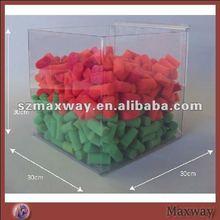 Wall mounting large plexiglass deep display box