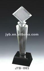 Black base crystal trophy,square trophy(JYB-65)
