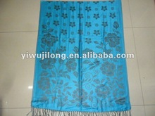 pashmina ,fashion printed flower knitted scarf for lady .muslim long scarf