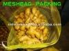 fresh ginger mesh bag packing