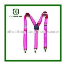 2012 fashion printed design elastic suspender for girls