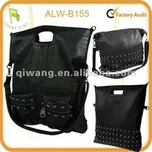New fashion studded skull Handbag Leather Satchel Tote bag
