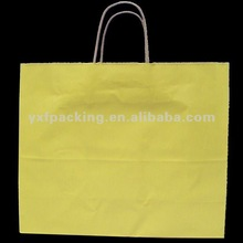 Mellow Yellow Kraft Shopping Bags