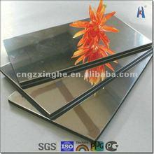 mirror finish aluminum composite panel/exterior wall panel siding
