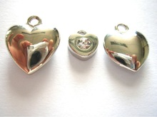 2012 stainless steel 3d heart design pendant necklace