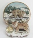 lively lovely the cats resin sculpture with crystal ball
