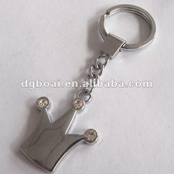 alloy keychain and diamond crown key holder
