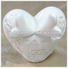 heart wings valentine's day ceramic craft