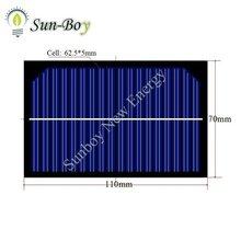 9V 100mA Small Size Solar Module 110*70mm