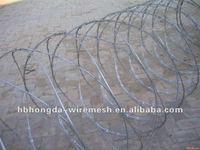 cross razor wire