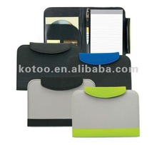 A5 multicolor pu leather portfolio