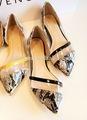 Elegante de la señora vestido de las para mujer zapatos planos para mujer plana otoño calzado barato
