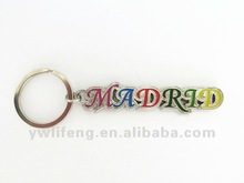 2012 hot sale metal keychain souvenir spanish