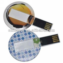 Round Card USB Flash Drive Components