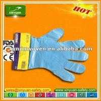 transparent LDPE gloves