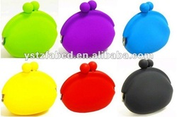 Clean & Clear Silicone Round Coin Bag/Coins Case with Stocks
