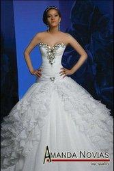 Spanish Wedding Dress Designers on Designer Arabic Wedding Dress With Crystal Pleated Bodice Els064   Buy