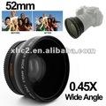 0.45x 52mm lente gran angular con macro para nikon d40/d60/d70s/d3000/d3100/d5000