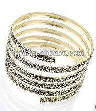 Fashion Burn Gold Wide Hammered Wrap Bracelet 2012 popular bracelet for women