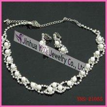 Fashion Crystal Bridal Jewelry Set Necklace Earring Set