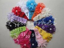 2012 1.5'' crochet headband with lace flowers