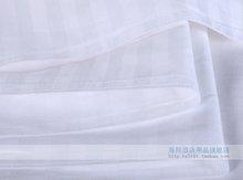 hotel 100% stripe sateen bleached plain bed sheet