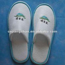 100% cotton velvet soft and comfortable disposable hotel room slipper
