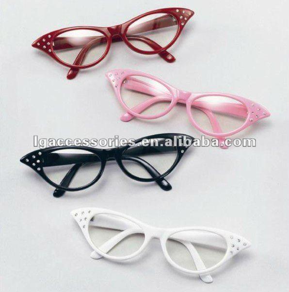 Grasso occhiali, bicchieri da film grasso, festa in costume in maschera