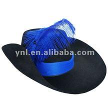 2012 FASHION HALLOWEEN BLUE MUSKETEER HAT