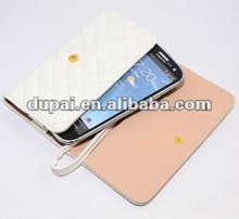 Elegant PU Leather Cell Phone Wallet Case Card Holder