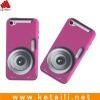 camera shape beautiful silicone case for iphone 4 purple
