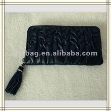 vogue elegant temperament ladies long black purse
