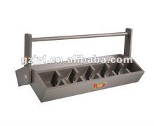 eco-friendly wooden paint tea shelf for tea show