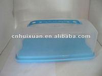 clear rectangle plastic bread box