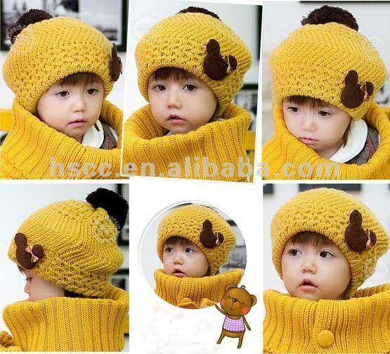 Boina gorro equipada para niñas de lana sombreros frescos ...