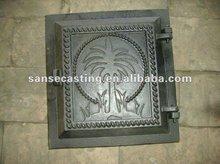 freestanding wood cast iron stove doors