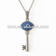 Blue Lucky evil Eye Key Pendant necklaces jewelry