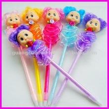 fashion cute cartoon dress girl pen doll ball point pen