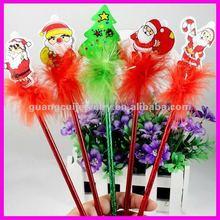 fashion cute cartoon cheap santa claus pen christmas ball pen