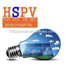 TUV UL CE IEC CEC certified photovoltaic solar panels