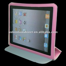 iPad 2 Smart Cover Slim Magnetic PU Leather Case Wake/ Sleep Stand Multi-Color pink
