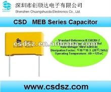 CSD-MEB Series metallized Polyester film Capacitor for Audio Square Film 1uf Capacitor