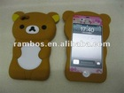 Popular 3d bear shaped silicone protector cell phone cover case for iphone 4s