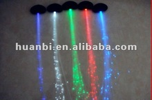 led glowing flashing lighting up fiber hair braid