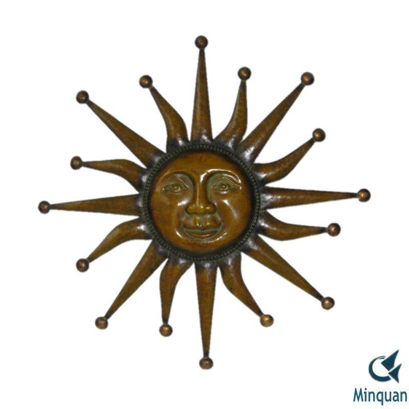 Sun Face outdoor decorative metal wall art,View outdoor decorative ...