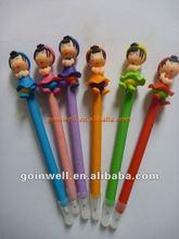 girls polymer clay pen