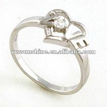 925 sterling silver gratuito modelli anello in rilievo